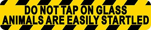 StickerTalk 10in x 2in Do Not Tap On Glass Magnet Magnetic Sign - Dont E Tap The