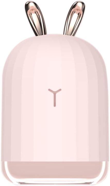Blusea Diffusor Aromatherapie,Deer Mini Luftbefeuchter /Ätherisches /Öl Diffusor Aromatherapie Haushalts Ultraschall-Luftbefeuchter USB Diffusoren Rosa Kaninchen