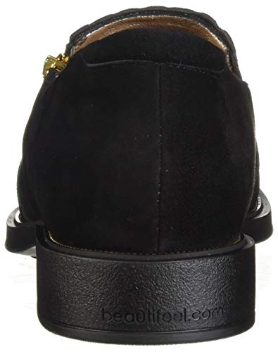 Flat Blue Loafer Suede Women's Black Beautifeel BH1Fx5