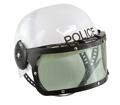 Childrens Plastic Police Swat Costume Helmet - Swat Officer With Helmet Child Costume