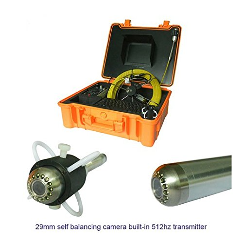 "GOWE 29mm self balancing pipe line camera sewer cctv inspection equipment with 512hz transmitter 30m counter Sensor Size:1/4"";Horizontal Resolution:600TVL; Signal System:NTSC"