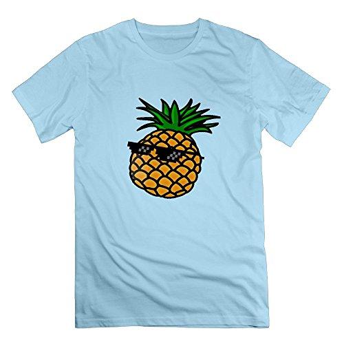 Poii Qon Men's Glasses Pineapple Crew Neck T-Shirts Short-Sleeves Cotton - 3d Limited Glasses Avengers Edition