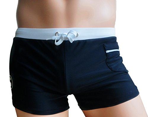 KINGDESON Men's Beach Sexy Pocket Lace-up Swimming Shorts Trunks Boxer Underwear