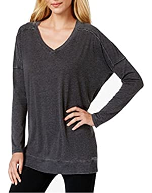 Calvin Klein Performance Distressed Banded Top Black