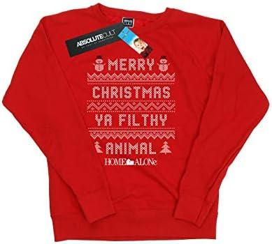 Home Alone Damen Filthy Animal Knit Style Sweatshirt Rot Large