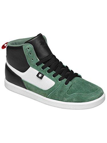 DC Shoes Landau High Unrestricted - Zapatillas de Piel para hombre rojo y negro Green/Black