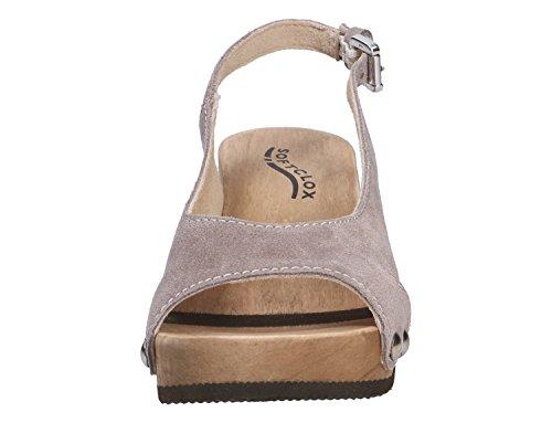 Softclox 3387 Nadine Grey - Sandalias de vestir para mujer gris