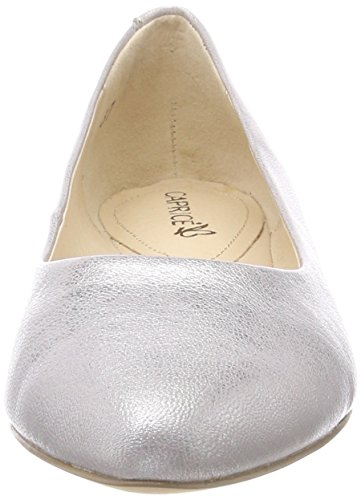 Caprice 920 Silver Women's Ballet 22107 Metal Navy Silber Dots Flats O1OqUC
