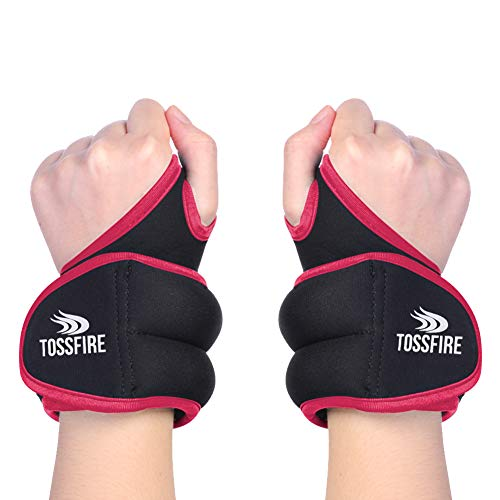 1 Pair of 1 lbs Wrist Weights Set with Hole for Thumb and Thumb Lock Design for Man Women, Perfect for Running Weightlifting Training Gymnastic Aerobic Jogging