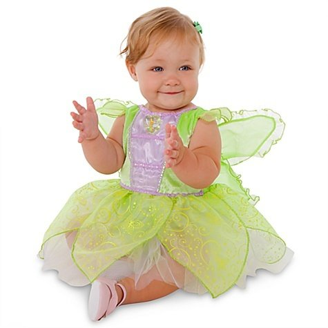 Disney Store Tinkerbell Fairy Costume Glow In The Dark