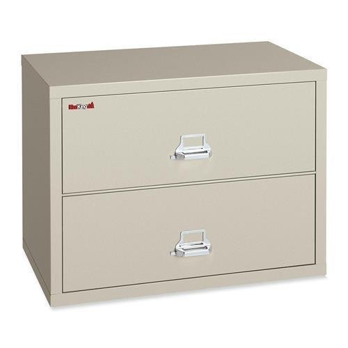 - FireKing 23822CPA Two-Drawer Lateral File, 37-1/2w x 22-1/8d, UL Listed 350, LTR/Legal, Parchment