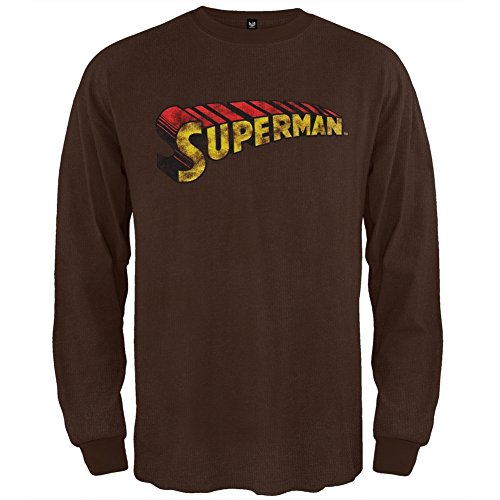 Superman - Logo Thermal X-Large Brown
