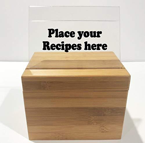 Our Recipes Recipe Box Wooden Recipe Box Engraved Recipe Box Wood Recipe Box