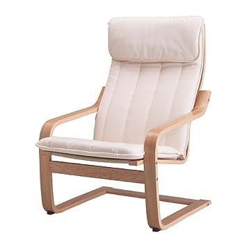 Ikea Poang Armchair Oak Veneer Alme Natural Amazoncouk