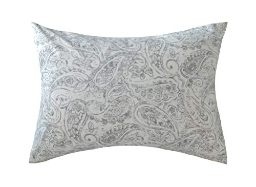 Ella & Max Toddler Pillowcase. Blue and White Paisley Print. Soft & Cuddly. Fits 13x18 & 14x19 Toddler Pillows. Easy to wash & no Ironing. Handmade in USA. Made of - Paisley Pillow Blue