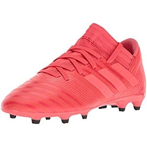 adidas Girls' Nemeziz 17.3 FG J, Real Coral/Red Zest/Core Black, 5.5 M US Big Kid