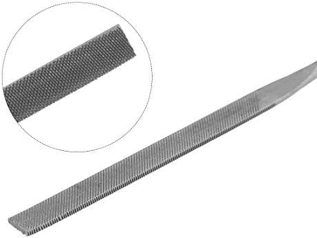 4 mm x 160 mm Second Cut Steel Flat Needle File 10 pieces with plastic handle