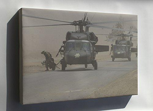 Canvas 16x24; Uh-60L Black Hawk Helicopter Assault Mission Iraq From B Company (Lancers), 5Th Battalion, 101St Aviation Regiment, On An Air Assault Mission In (Uh 60l Blackhawk)