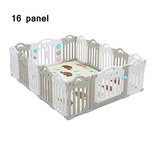 QFFL Baby Playpen,16 Panel Kids Indoor Outdoor Home Safety Activity Center with Door Portable Children