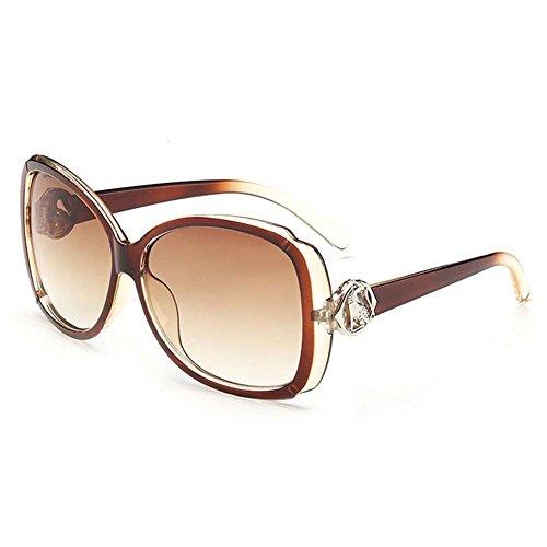 [LOMOL Womens Fashion Trendy Big Frame Gradient Lens Oversize Uv Protection Sunglasses(C3)] (Morpheus Costumes Sunglasses)