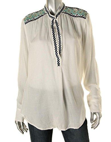 Karen Kane Embroidered Split-Neck TopBlouse, XL