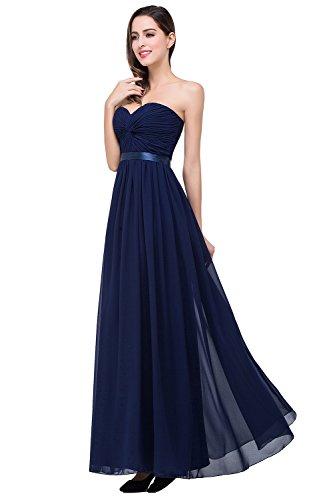 Brautjungfernkleid Chiffon In Herzform Mehreren Abendkleider Babyonlinedress Navy Lange Damen Farben Blau Maxikleid