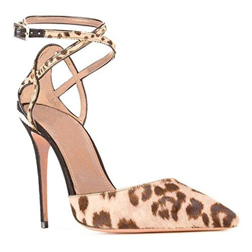 Zapatos de mujer de tamaño extra altos talones del leopardo zapatos de punta personalizados zapatos de leopardo zapatos de moda Picture color