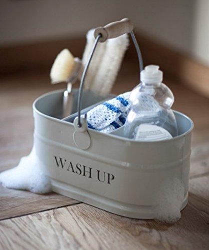 Enamel Washing Up Sink Tidy - Shabby Chic Vintage: Amazon.co.uk ...
