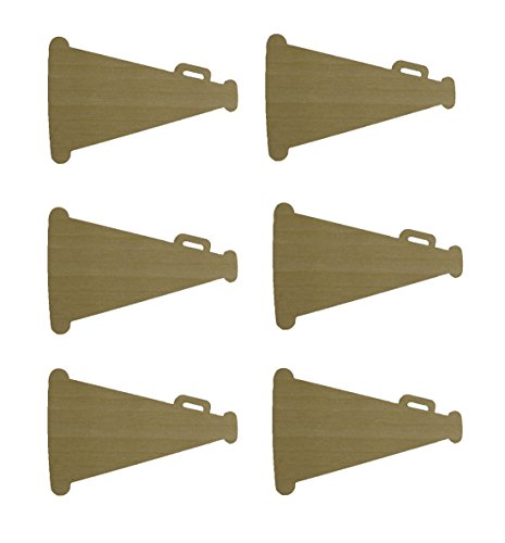 Megaphone Cut Outs Unfinished Wood Mini Megaphones Crafts 3
