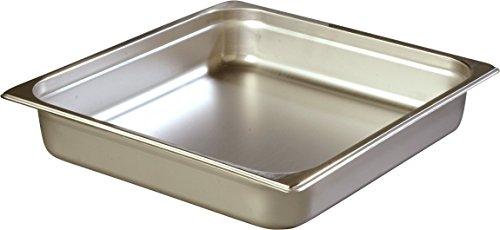Carlisle 607232 Stainless Steel 18-8 DuraPan Light Gauge 2/3 Size Anti-Jam Food Pan, 6 quart Capacity, 2.5'' x 12.75'' x 13.88'' (Case of 6) by Carlisle