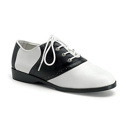 Funtasma Saddle - Funtasma SADDLE-50 womens Black-White Polyurethane Pumps Shoes, Size - 7