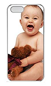 iPhone 5 5S Case Cute Baby With Dolls PC Custom iPhone 5 5S Case Cover Transparent by Maris's Diary