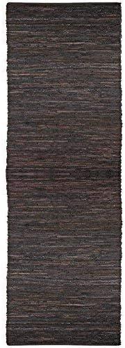 Amazon Com Matador Chindi Runner 2 5 Feet By 8 Feet Brown Leather Furniture Decor