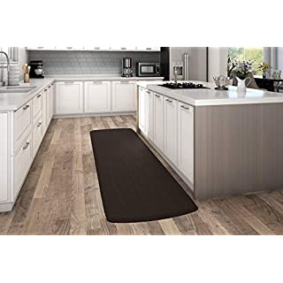 """NewLife by GelPro Anti-Fatigue Designer Comfort Kitchen Floor Mat, 30x108"""", Sisal Coffee Bean Stain Resistant Surface with 3/4"""" Thick Ergo-foam Core for Health and Wellness"""