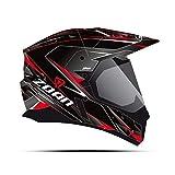 Zoan Synchrony Hawk Black Red Dual Sports Adventure Snowmobile Riding Helmet X-Small