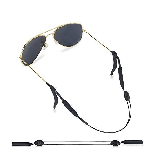Eyeglasses Strap Adjustable Eyewear Lanyard Sports Eyeglasses Anti - slip Hooks Anti (black)