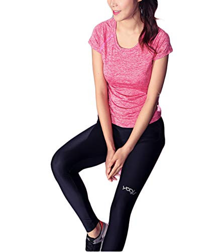 Thx Style Women's Short Sleeve Yoga Tops Activewear Running Workout T-Shirt Sports (l, Pink) Jerseys Sweaters Uniform School Handbags Uniforms Woman inc Athletics sportswearcollection Shops from Thx Style