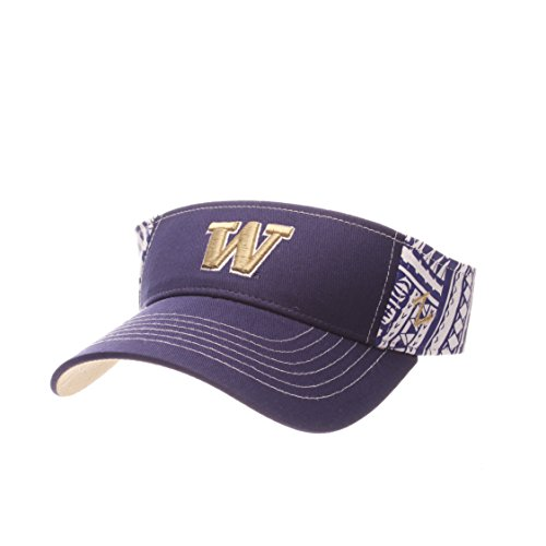 Zephyr NCAA Washington Huskies Adult Men's Hanauma Visor, Adjustable Size, Team -