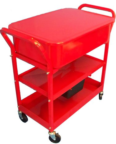 Mobile 20 Gallon Parts Washer Cart Pump Drying Shelf 3 by Generic (Image #1)