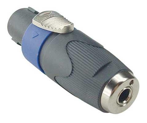 Hosa NA4LJX Neutrik Speaker Adaptor 14 in TS to speakON