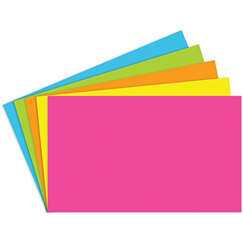 Notch Index (Top Notch Teacher Products TOP360 Brite Assorted Index Cards Blank, 1
