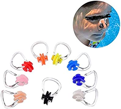 3 Pcs//Set Silicone Swimming Nose Clip Plugs Kits for Adults