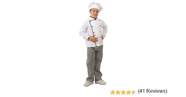 Guirca - Disfraz de cocinero, talla 7-9 años, color blanco (81582 ...