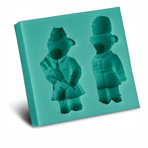 Bear Silicone Mold Decoration Tools Cake bear lovers shape instant fondant silicone lace mold cake mold baking tools cake decorating tools ()