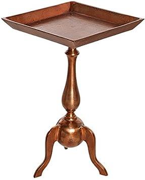 Mesa auxiliar en estilo barocco - Jardin - 55 x35 cm (al x an(, quadrado, color cobre #35726