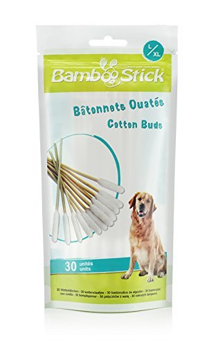 BambooStick Cotton Buds for Dogs Single Large/Xlarge
