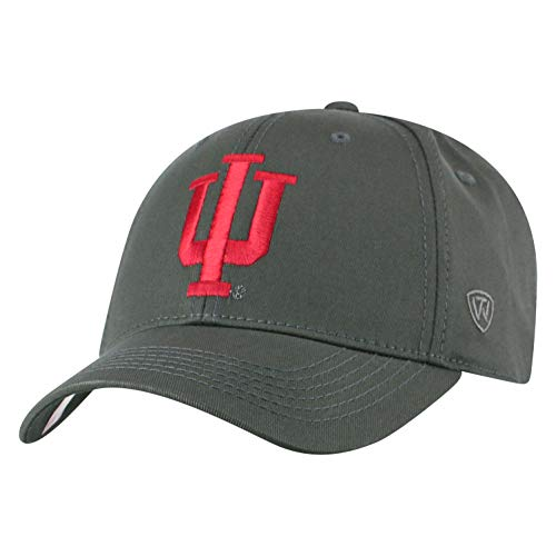 45643b5c188bd Top of the World NCAA Indiana Hoosiers Men s Fitted Relaxed Fit Charcoal ...