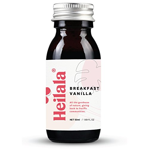 reakfast Vanilla - Made With Whole Heilala Vanilla Bean Seeds, All Natural, Alcohol Free, Raw, Premium Organically Grown Pods, Superior to Tahitian or Madagascar ()