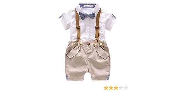Luoting - 4pcs Conjunto de Ropa de Bautizo Camiseta Pantalones ...