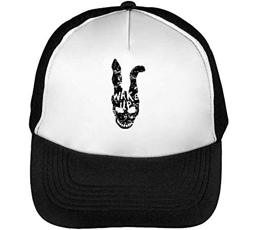 Donnie Darko Rabbit Mask Wake Up Gorras Hombre Snapback Beisbol Negro Blanco